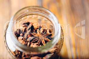 Jar of Star Anise.