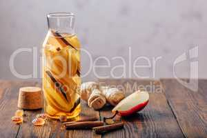 Water with Pear, Cinnamon and Ginger.