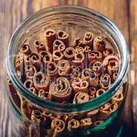 Jar of Cinnamon Sticks.
