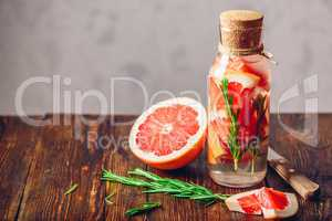 Cleansing Water with Grapefruit and Rosemary.