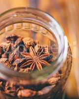 Jar of Star Aniseeds.