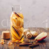 Water with Pear, Cinnamon, Ginger and Sugar.