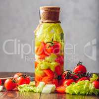Cleansing Water with Tomato and Celery.