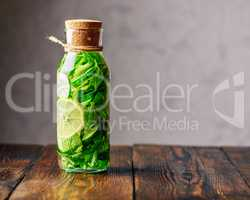 Detox Water with Lemon, Cucumber and Mint.