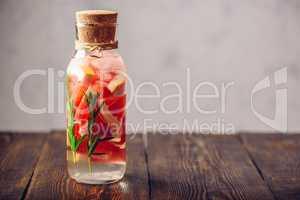Bottle of Detox Water.