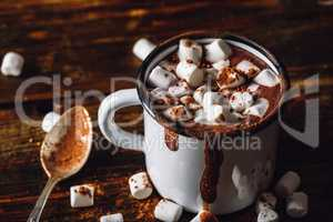 Cocoa Mug with Marshmallow.