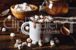 Mug of Cocoa with Marshmallows.