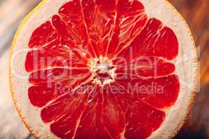 Half of Ripe Grapefruit.