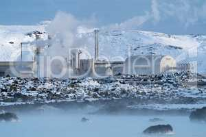 Geothermal power plant of Grindavik, Iceland