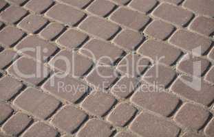 Cobblestone Pavement at day