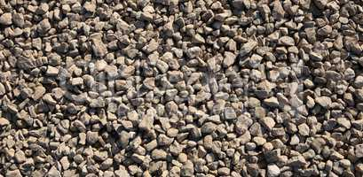 gravel at dry sunny day