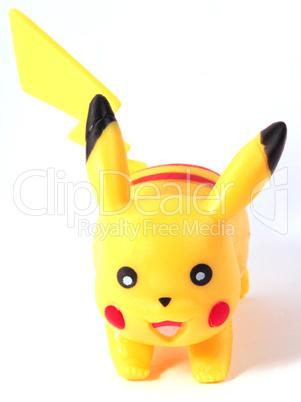 plastic yellow game toy