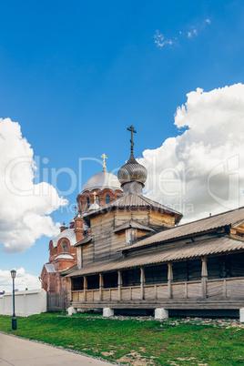 Wooden Holy Trinity Church on Sviyazhsk Island.