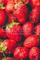 Background of ripe strawberries