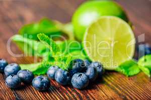 Blueberries, Lime and Mint.