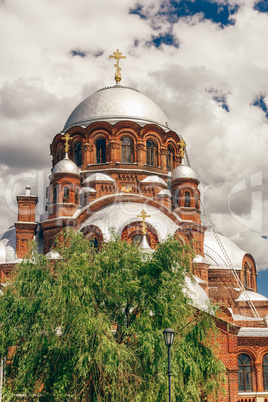 Beautiful Church in City-Island Sviyazhsk.