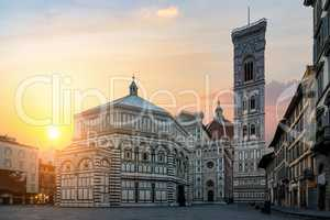 Dawn and Basilica in Florence