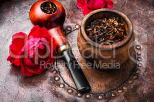 Smoking rose-flavored tobacco