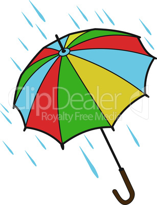Bright open umbrella