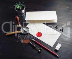 Retro envelope, stationery