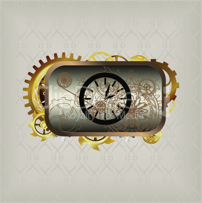 Icon in steampunk style