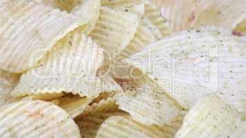 potato chips horizontal  texture
