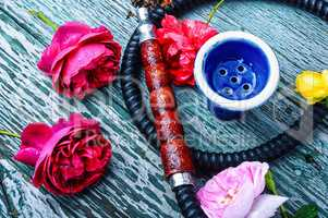 Shisha with rose tobacco