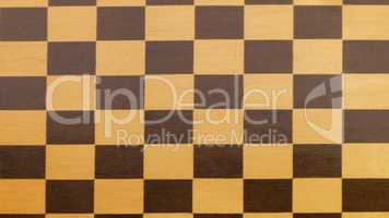 wooden empty chessboard isolated