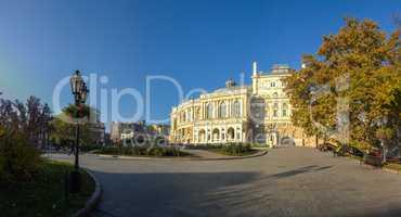 Early autumn at Odessa seaside Boulevard in Ukraine