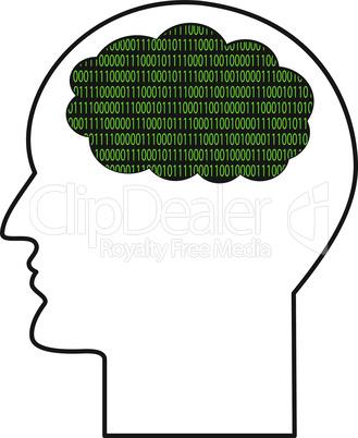 Contour of human head