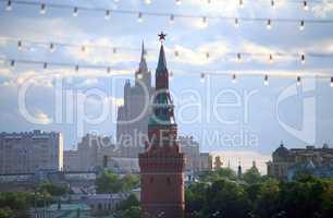 kremlin in cityscape