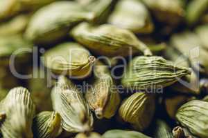 Green Cardamom Pods Backdrop.