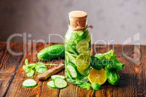 Infusion with Lemon, Cucumber and Mint.
