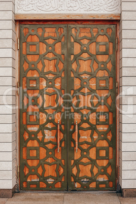Door Decorated with Ornament.