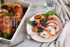 Sliced Stuffed Chicken Breast