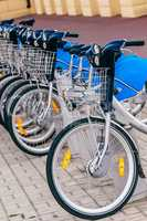 Urban Bicycles on Rental Station.
