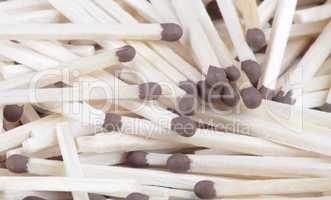 many scattering of matches