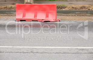 restrictive block on road