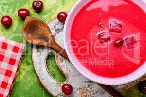 Summer cherry soup