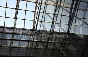 glass roof of building