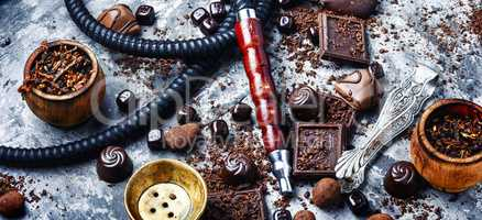 Tobacco shisha with chocolate flavor