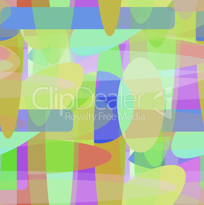 Seamless pattern with the pastel colored shapes
