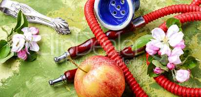 Arabian shisha with apple tobacco