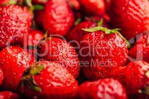 Ripe strawberry Background.