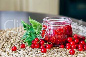 Homemade Jam with Red Currant.
