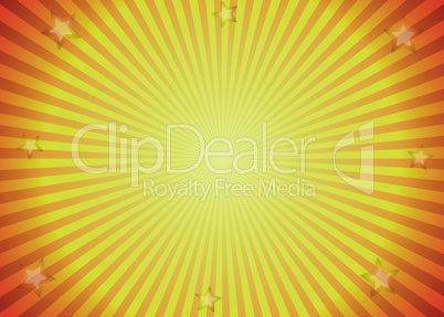 Sun ray background in yellow and orange colors.