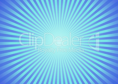 Sun ray background in blue color.