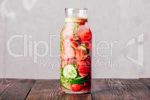 Detox Water with Strawberry, Cucumber and Thyme.