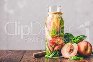 Summer Water with Peach and Basil.