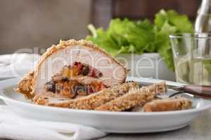turkey stuffed with dried fruit